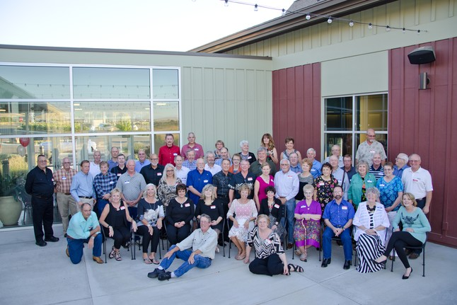 See 50th Reunion Recap for names od classmates in this picture